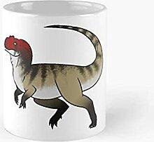 Allosaurus en cours d'exécution cartoon chibi