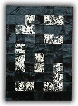 Allotapis - Tapis design en peau de vache noir