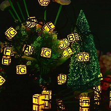 Alphabet anglais solaire guirlande lumineuse 5m