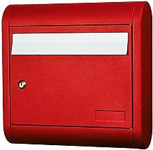 Alubox soleil Boîte aux lettres, rouge