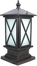 Aluminium Étanche Extérieur Pilier E27 Lampe