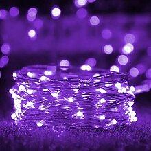 Aluogen Guirlande lumineuse en fil de cuivre