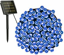 Aluogen Guirlande lumineuse solaire 12 m 100 LED