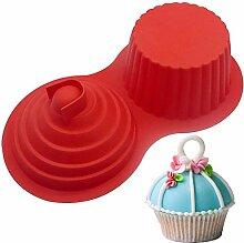 ALUYF Moule à Cupcake Géant en Silicone Moule à