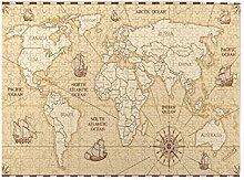 Alvaradod Puzzles 500 pièces,Carte du Monde