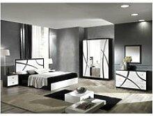 Alyssa - chambre complète 160x200cm blanche et