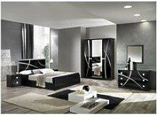 Alyssa - chambre complète 160x200cm noire et