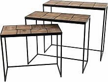 Amadeus - Set de 3 consoles en bois de bout et