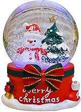Amandaus Boule à neige de Noël lumineuse Boîte