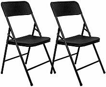 AMANKA 2 Chaises Pliantes jusqu'à 150kg -