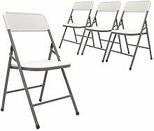 AMANKA 4 Chaises Pliantes jusqu'à 150kg -