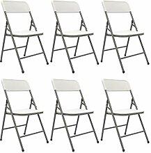 AMANKA 6 Chaises Pliantes jusqu'à 150kg -