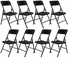 AMANKA 8 Chaises Pliantes jusqu'à 150kg -