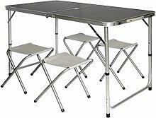 AMANKA Table de Camping Pliable réglable en