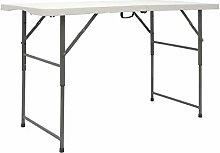 AMANKA Table de Jardin Pliante 120 x 60 cm -