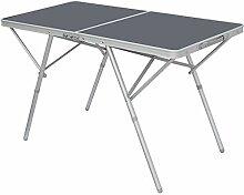 AMANKA Table Pliante 120x60x70cm Meuble de Camping