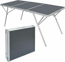 AMANKA Table Pliante XXL 180x70x70cm meuble de