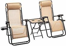 Amazon Basics Lot de 2fauteuils relax pliants