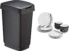 Amazon Basics Poubelle 25l & Service de Table