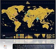 Amazy Carte du Monde à gratter XXL – Poster