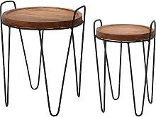 Ambiance Ensemble de 2 tables d'appoint rondes