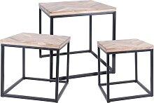 Ambiance Ensemble de tables d'appoint 3 pcs