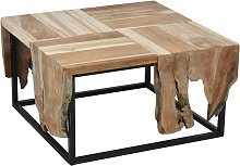 Ambiance Table d'appoint Teck 65x65x35 cm
