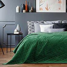 AmeliaHome Laila Velvet Couvre-lit Polyester Vert