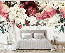 Américain Peint À La Main Plante Fleur Rose