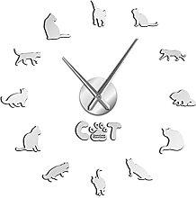 American Shorthair Cat Moderne DIY Horloge Murale