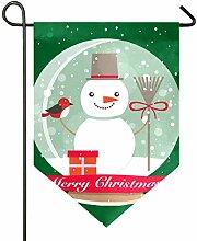 AMONKA Boule de Noël en verre Motif bonhomme de