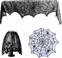 Amosfun 3pcs Halloween Party Supplies Noir Toile