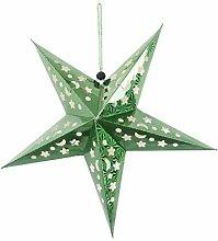 Amosfun Abat-jour en papier en forme d'étoile