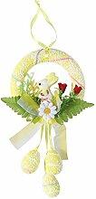 Amosfun Couronne de Pâques décorative - Œufs de