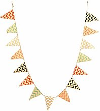Amosfun Fanion bannière Triangle bannière
