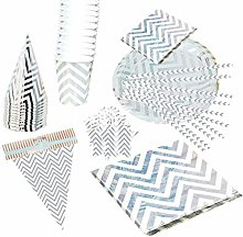 Amosfun Fete Anniversaire Vaisselle kit Papier