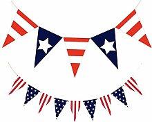 Amosfun Jour de l'Indépendance Bannière USA