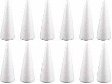 Amosfun Lot de 12 cônes en polystyrène en forme