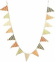 Amosfun Triangle Coloré Bannière Drapeaux Jute