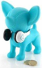 Amour Passion Tirelire Chien Chihuahua Bleue avec