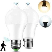 Ampoule à capteur de mouvement PIR, E27 B22,