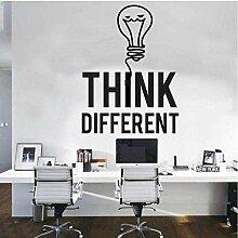 Ampoule de bureau autocollants muraux créatifs