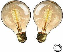 Ampoule E27 Vintage,Fil Lampe Rétro Antique
