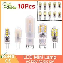 Ampoule halogène G4 G9 3W 6W AC 220V AC/DC 12V,