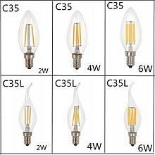Ampoule LED C35L C35 E14 E12 E27, 5 pièces,