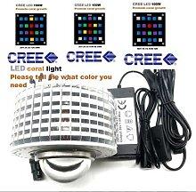 Ampoule led CREE pour aquarium, 100W, spectre