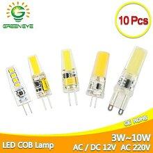 Ampoule LED G4 AC DC 12V 220V cob, éclairage led
