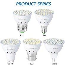 Ampoule LED GU10 MR16, projecteur E27, lampe