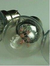 Ampoule Led rose 1.2W filament culot B22 230V