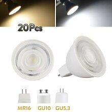 Ampoule LED variable MR16 GU5.3 GU10 7W 110V 220V,